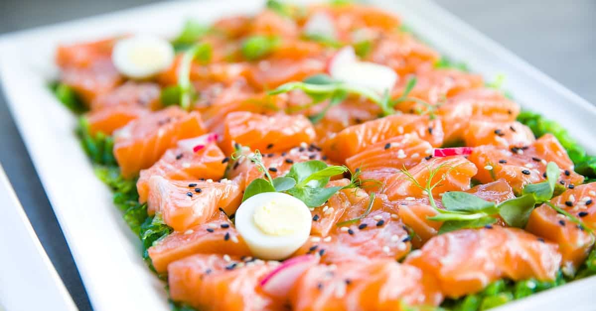 asian salmon recipe party food